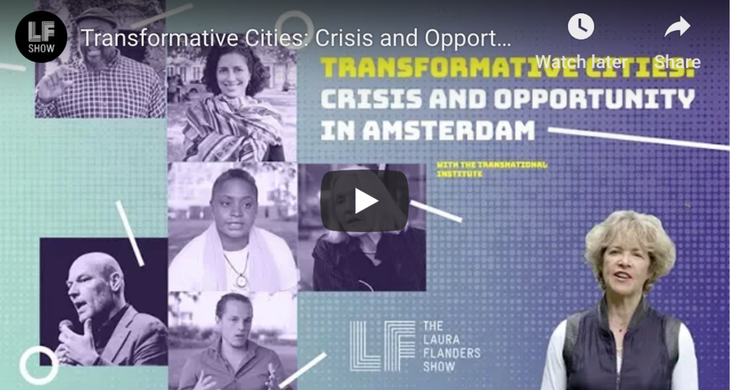 Laura Flanders Show: Transformative Cities – Crisis and Opportunity in Amsterdam
